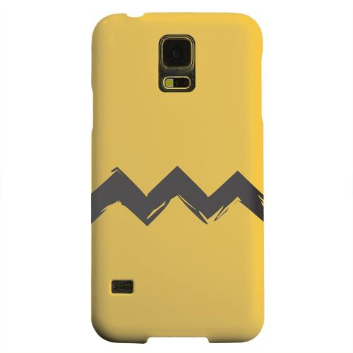 Geeks Designer Line (GDL) Samsung Galaxy S5 Matte Hard Back Cover - Yellow Good Grief!