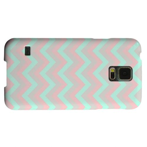 Geeks Designer Line (GDL) Samsung Galaxy S5 Matte Hard Back Cover - Green on Pink on Gray