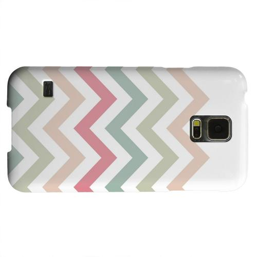 Geeks Designer Line (GDL) Samsung Galaxy S5 Matte Hard Back Cover - Green/ Red on White
