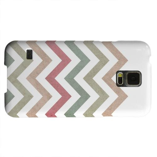 Geeks Designer Line (GDL) Samsung Galaxy S5 Matte Hard Back Cover - Grungy Green/ Red on White