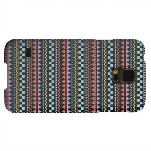 Geeks Designer Line (GDL) Samsung Galaxy S5 Matte Hard Back Cover - Multi-Shapes & Colors on Black
