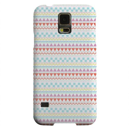 Geeks Designer Line (GDL) Samsung Galaxy S5 Matte Hard Back Cover - Multi-Shapes & Colors on White