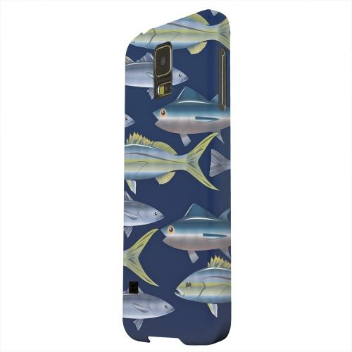 Geeks Designer Line (GDL) Samsung Galaxy S5 Matte Hard Back Cover - Assorted Fish in the Sea