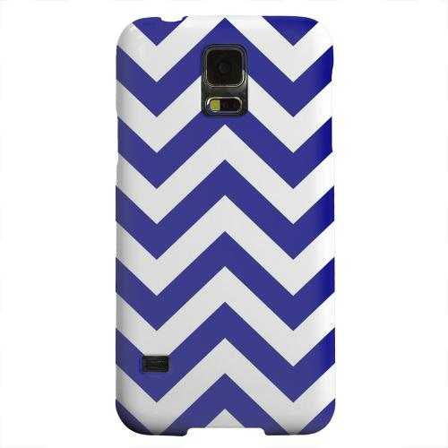 Geeks Designer Line (GDL) Samsung Galaxy S5 Matte Hard Back Cover - Navy Blue on White