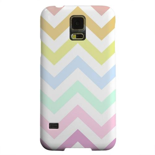 Geeks Designer Line (GDL) Samsung Galaxy S5 Matte Hard Back Cover - Pastel on White