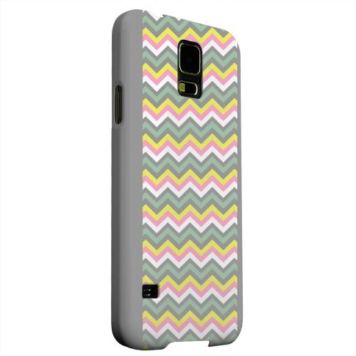 Geeks Designer Line (GDL) Samsung Galaxy S5 Matte Hard Back Cover - Pink/ Yellow/ Gray/ Green