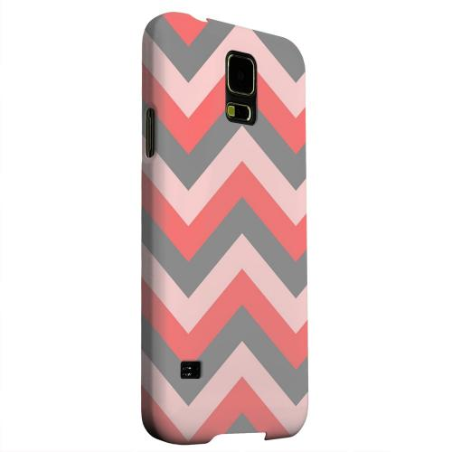 Geeks Designer Line (GDL) Samsung Galaxy S5 Matte Hard Back Cover - Red on Gray on Pink