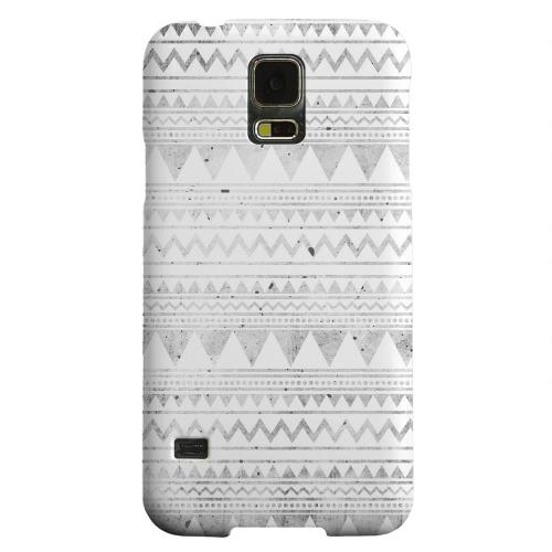 Geeks Designer Line (GDL) Samsung Galaxy S5 Matte Hard Back Cover - Grungy Triangles