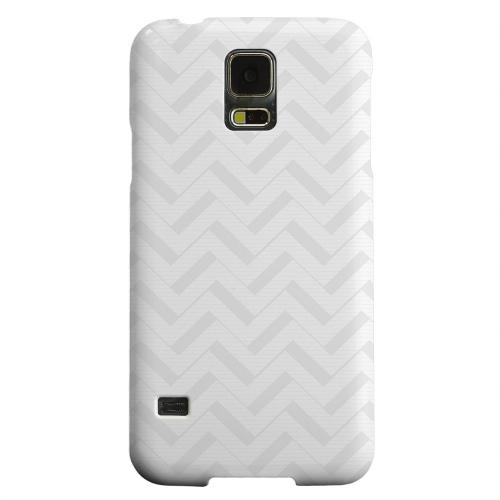 Geeks Designer Line (GDL) Samsung Galaxy S5 Matte Hard Back Cover - Light Gray/ White 3D