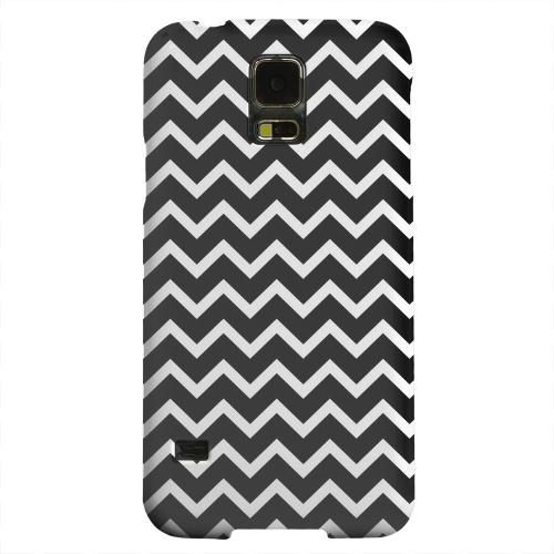 Geeks Designer Line (GDL) Samsung Galaxy S5 Matte Hard Back Cover - White on Black