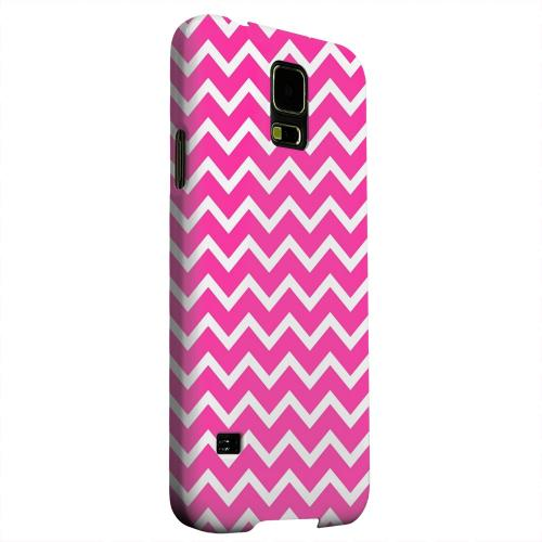 Geeks Designer Line (GDL) Samsung Galaxy S5 Matte Hard Back Cover - White on Hot Pink