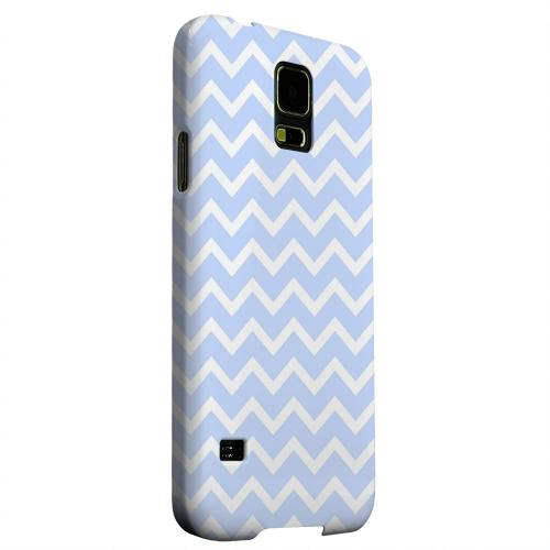 Geeks Designer Line (GDL) Samsung Galaxy S5 Matte Hard Back Cover - White on Light Blue