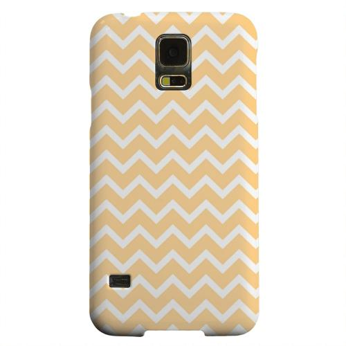 Geeks Designer Line (GDL) Samsung Galaxy S5 Matte Hard Back Cover - White on Light Orange