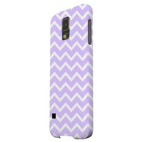 Geeks Designer Line (GDL) Samsung Galaxy S5 Matte Hard Back Cover - White on Light Purple