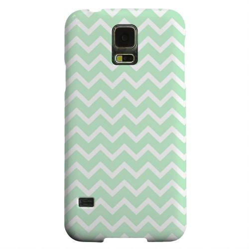 Geeks Designer Line (GDL) Samsung Galaxy S5 Matte Hard Back Cover - White on Mint