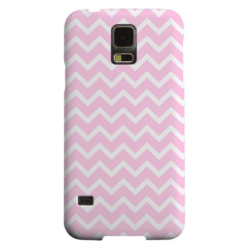 Geeks Designer Line (GDL) Samsung Galaxy S5 Matte Hard Back Cover - White on Pink