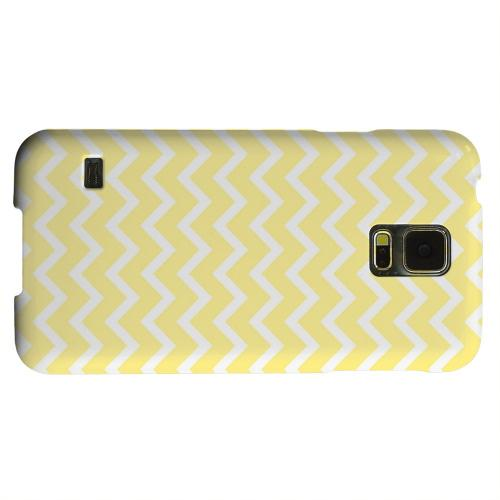 Geeks Designer Line (GDL) Samsung Galaxy S5 Matte Hard Back Cover - White on Yellow