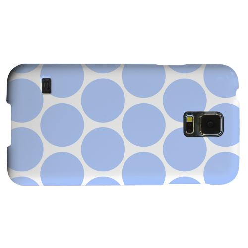 Geeks Designer Line (GDL) Samsung Galaxy S5 Matte Hard Back Cover - Big & Sky Blue