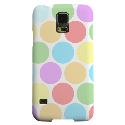 Geeks Designer Line (GDL) Samsung Galaxy S5 Matte Hard Back Cover - Big & Rainbow on White