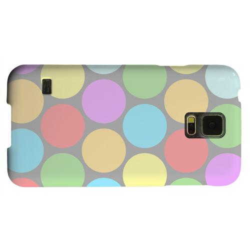 Geeks Designer Line (GDL) Samsung Galaxy S5 Matte Hard Back Cover - Big & Rainbow on Gray