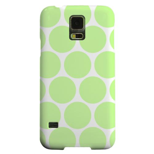 Geeks Designer Line (GDL) Samsung Galaxy S5 Matte Hard Back Cover - Big & Lime Green