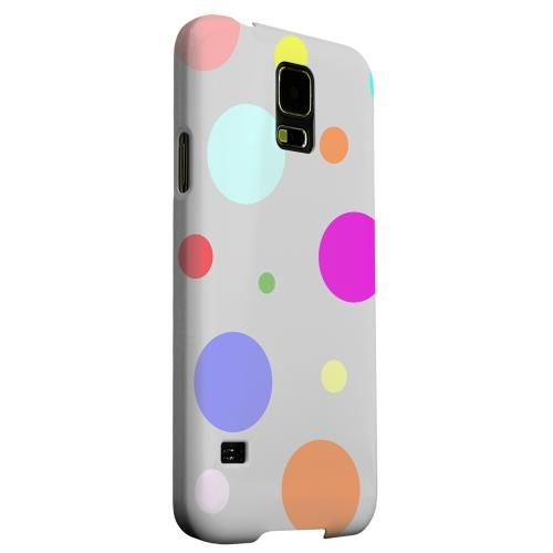 Geeks Designer Line (GDL) Samsung Galaxy S5 Matte Hard Back Cover - Random & Rainbow on Gray