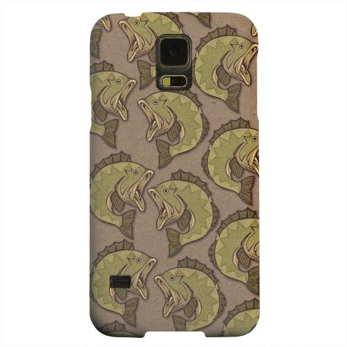 Geeks Designer Line (GDL) Samsung Galaxy S5 Matte Hard Back Cover - Large Mouth Bass Design