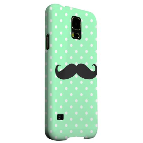 Geeks Designer Line (GDL) Samsung Galaxy S5 Matte Hard Back Cover - Stache on Mint