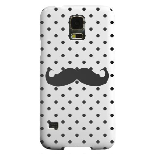 Geeks Designer Line (GDL) Samsung Galaxy S5 Matte Hard Back Cover - Stache on White