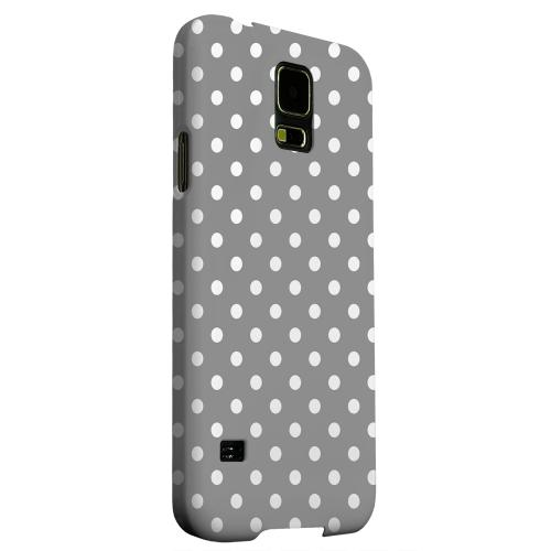 Geeks Designer Line (GDL) Samsung Galaxy S5 Matte Hard Back Cover - White Dots on Gray