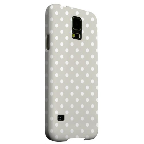 Geeks Designer Line (GDL) Samsung Galaxy S5 Matte Hard Back Cover - White Dots on Khaki