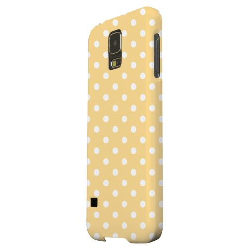 Geeks Designer Line (GDL) Samsung Galaxy S5 Matte Hard Back Cover - White Dots on Orange