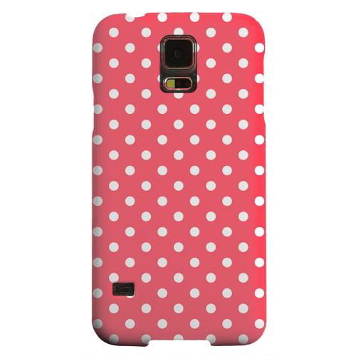 Geeks Designer Line (GDL) Samsung Galaxy S5 Matte Hard Back Cover - White Dots on Red