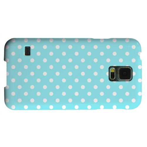 Geeks Designer Line (GDL) Samsung Galaxy S5 Matte Hard Back Cover - White Dots on Turquoise