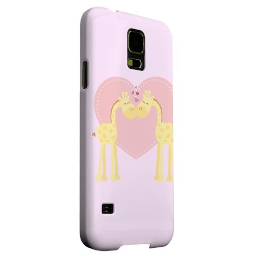Geeks Designer Line (GDL) Samsung Galaxy S5 Matte Hard Back Cover - Giraffe Love on Baby Pink