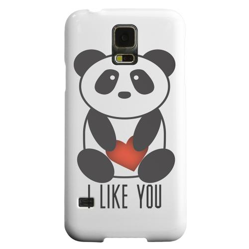Geeks Designer Line (GDL) Samsung Galaxy S5 Matte Hard Back Cover - I Like You Panda