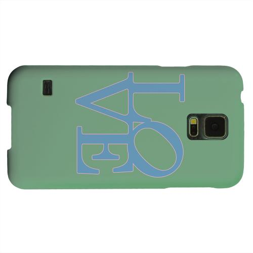 Geeks Designer Line (GDL) Samsung Galaxy S5 Matte Hard Back Cover - Blue Love on Green