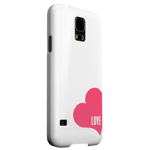 Geeks Designer Line (GDL) Samsung Galaxy S5 Matte Hard Back Cover - Love Heart