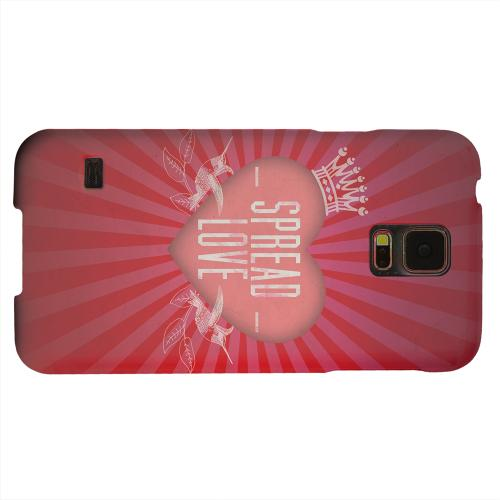 Geeks Designer Line (GDL) Samsung Galaxy S5 Matte Hard Back Cover - Spread Love