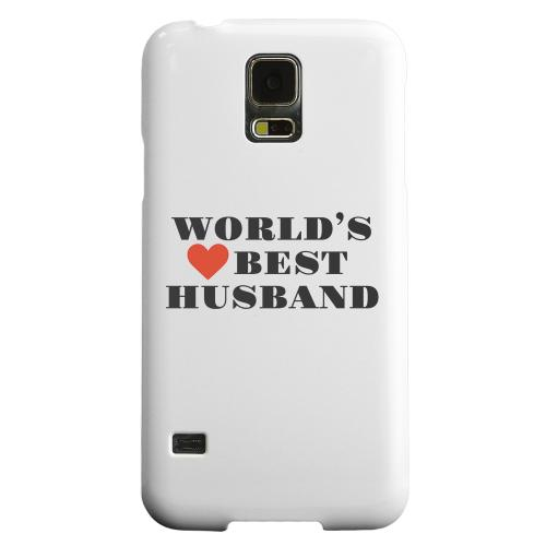 Geeks Designer Line (GDL) Samsung Galaxy S5 Matte Hard Back Cover - World's Best Husband