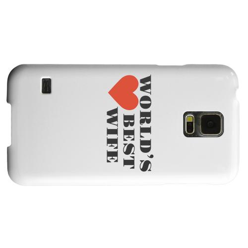 Geeks Designer Line (GDL) Samsung Galaxy S5 Matte Hard Back Cover - World's Best Wife