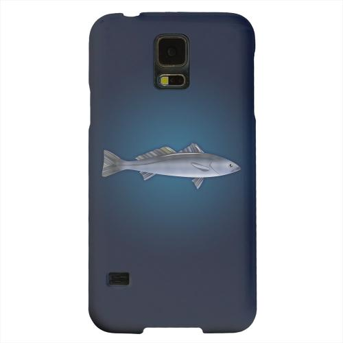 Geeks Designer Line (GDL) Samsung Galaxy S5 Matte Hard Back Cover - White Sea Bass