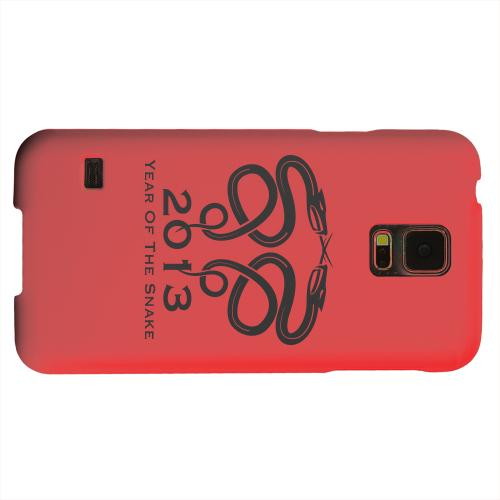 Geeks Designer Line (GDL) Samsung Galaxy S5 Matte Hard Back Cover - Dual Snake on Red