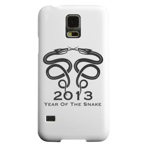 Geeks Designer Line (GDL) Samsung Galaxy S5 Matte Hard Back Cover - Dual Snake on White