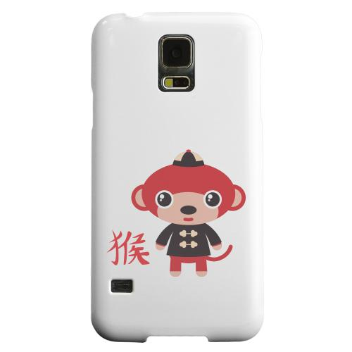 Geeks Designer Line (GDL) Samsung Galaxy S5 Matte Hard Back Cover - Monkey on White