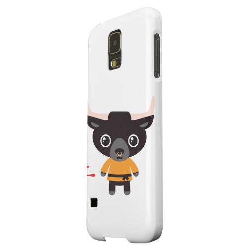 Geeks Designer Line (GDL) Samsung Galaxy S5 Matte Hard Back Cover - Ox on White