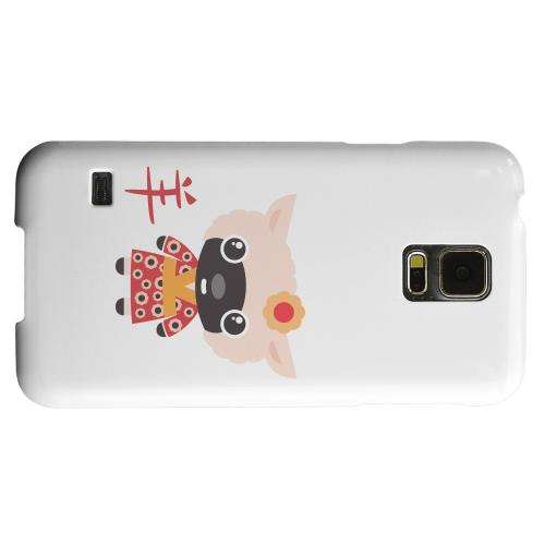 Geeks Designer Line (GDL) Samsung Galaxy S5 Matte Hard Back Cover - Sheep on White