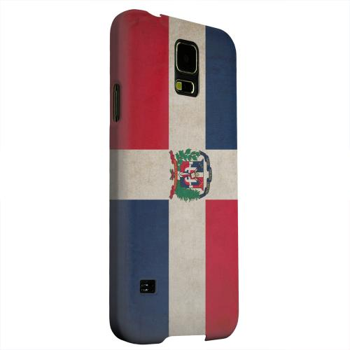 Geeks Designer Line (GDL) Samsung Galaxy S5 Matte Hard Back Cover - Grunge Dominican Republic