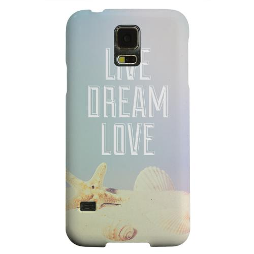Geeks Designer Line (GDL) Samsung Galaxy S5 Matte Hard Back Cover - Live Dream Love