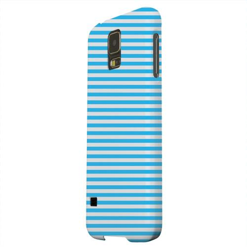Geeks Designer Line (GDL) Samsung Galaxy S5 Matte Hard Back Cover - Blue/ White Stripes